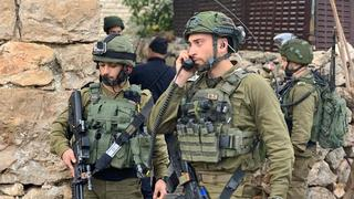 IDF troops operating in the Hebron area of the West Bank