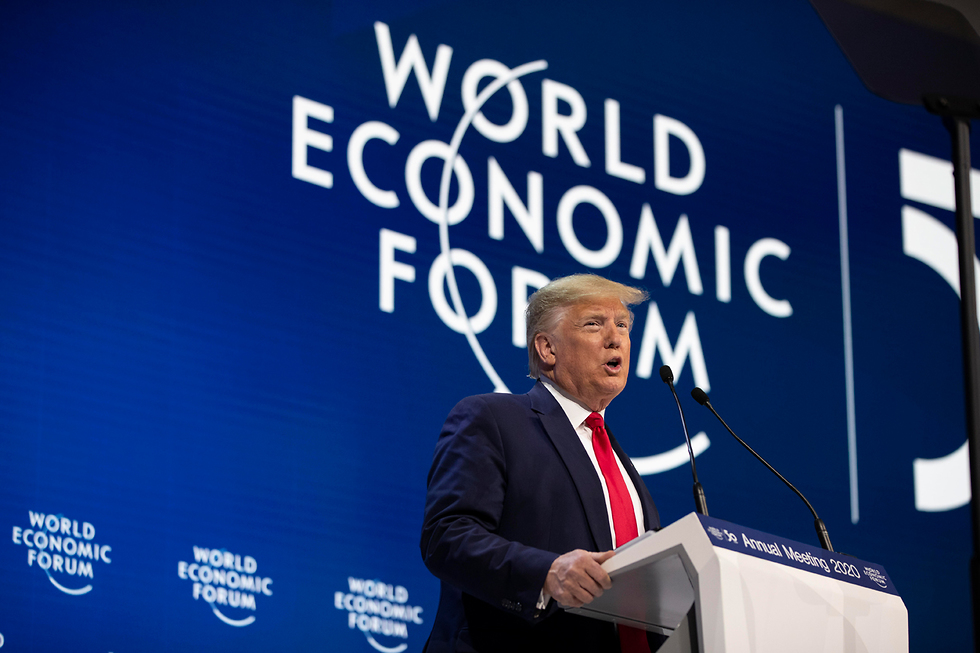 Donald Trump at the World Economic Forum in Davos, Switzerland this week