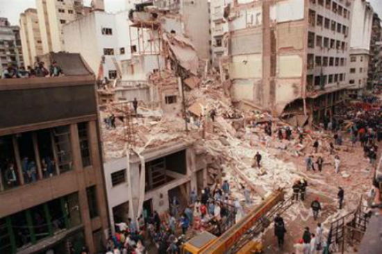 The aftermath of the 1994 bombing of the AMIA Jewish center in Buenos Aires