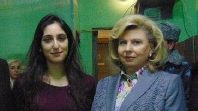 Tatiana Moskalkova Hight Commissioner for Human Rights in Russia with Naama Issachar held in jail in Russia