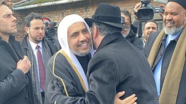 Secretary-General of the Muslim World League, Mohammad bin Abdulkarim Al-Issa during his visit to Auschwitz