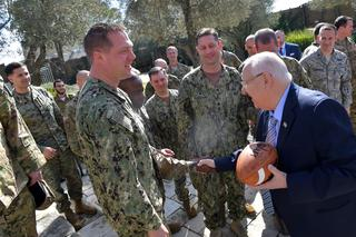 President Reuven Rivlin hosts some 30 U.S. Armed Forces officers visiting Israel