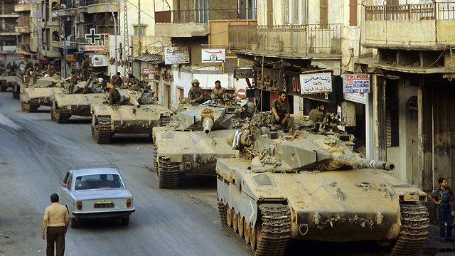 IDF troops and tanks in Beirut during the 1982 First Lebanon War