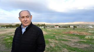 Prime Minister Netanyahu in the Jordan Valley promoting annexation
