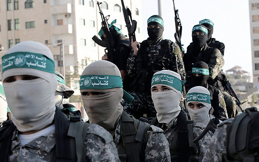 Members of the Hamas military wing in Gaza