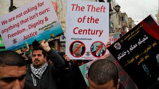 Palestinians protest in Ramallah against Israel's West Bank annexation plan