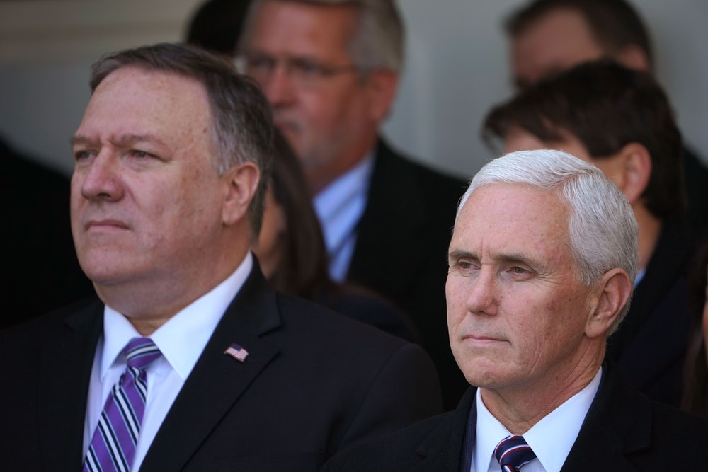 Mike Pomepo and Mike Pence