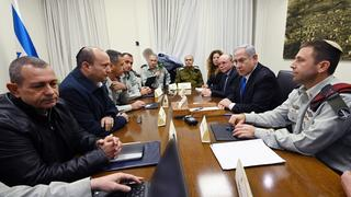 Prime Minister Netanyahu and Defense Minister Bennett hold security consultations at the military headquarters in Tel Aviv