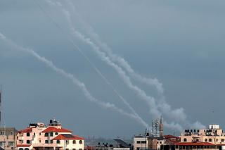 Rockets launches from the Gaza Strip