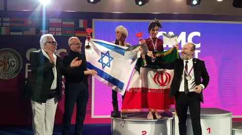 Israeli and Iranian hair stylists share the podium in an international competition in Russia