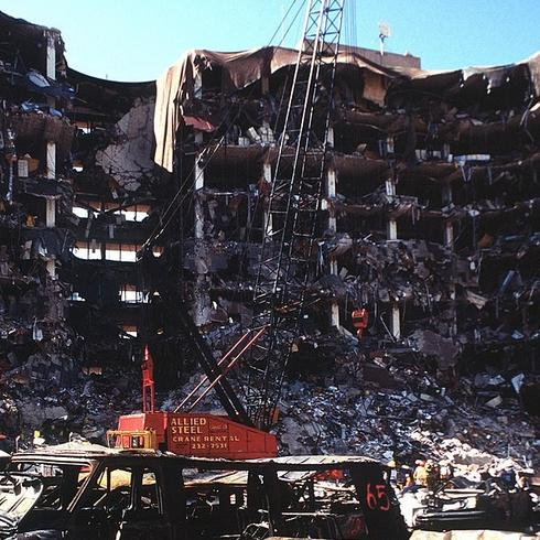 The aftermath of the 1995 Oklahoma City bombing