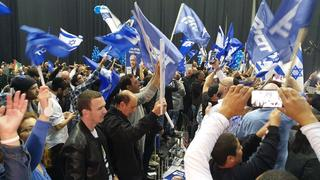 Celebrations at Likud HQ after election win