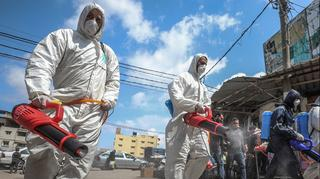 Disinfecting the streets of Gaza