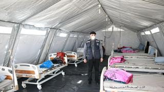 A field hospital in Rafah intended for coronavirus patients