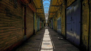 Shops closed in the Old City of Jerusalem due to the coronavirus pandemic