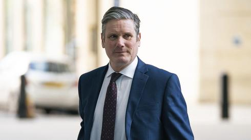 New British Labor leader Sir Keir Starmer arrives at BBC Broadcasting House in London, April 5, 2020