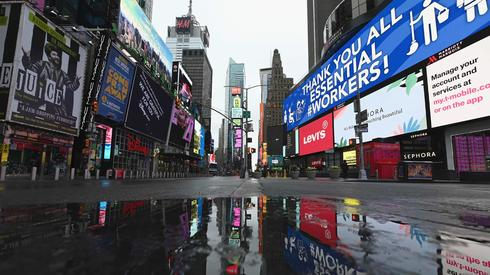 Empty streets of NYC amid the pandemic