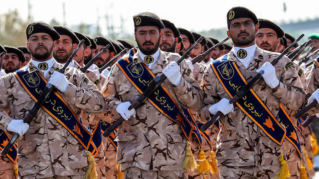 Iranian Revolutionary Guard Corps soldiers