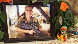 A picture of Max at his grave at Mount Herzl military cemetery in Jerusalem