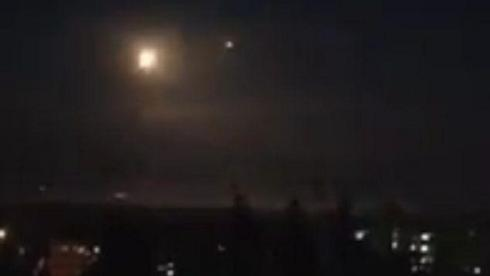 Explosions over Damascus after alleged Israeli attack