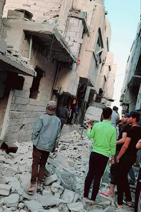 Damage from the latest alleged Israeli strike