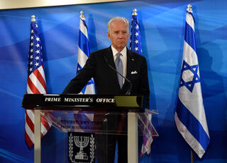 Then U.S. Vice President Joe Biden during a visit to Israel in 2016