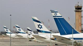 El Al airliners parked at Ben Gurion Airport