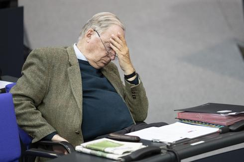 Alexander Gauland, co-head of the Bundestag faction of the right-wing Alternative for Germany (AfD) sits at the Bundestag