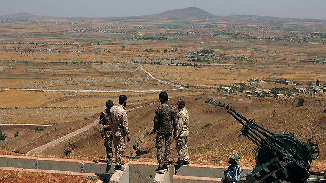 Iran backed troops in southern Syria