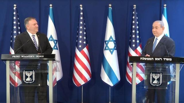Mike Pompeo and Benjamin Netanyahu meeting in Jerusalem on Thursday