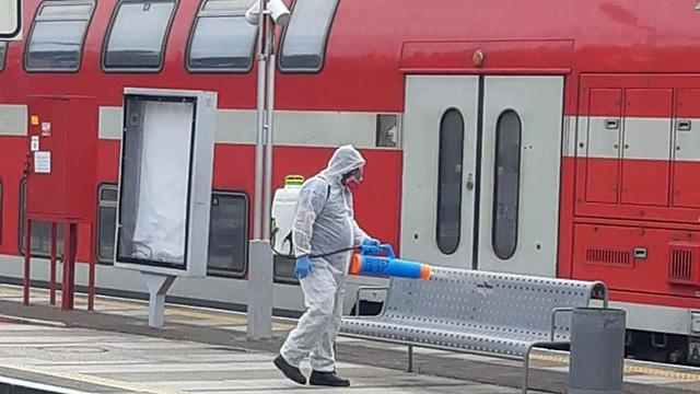 Disinfection of Israel Railway trains