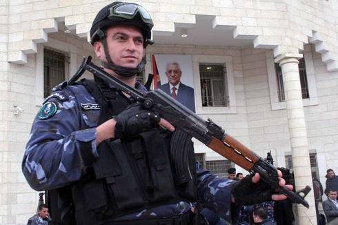 Palestinian security soldier