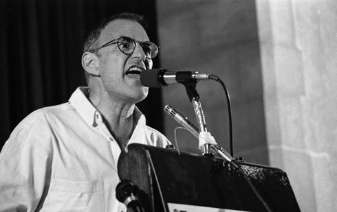 Larry Kramer at an AIDS conference in New York in 1987