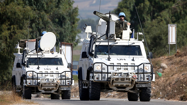 UNIFIL forces on patrol in South Lebanon