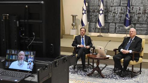 President Reuven Rivlin and Jewish Agency Chair Isaac Herzog speak to Jewish leaders around the world ahead of the Passover holiday, April 2020