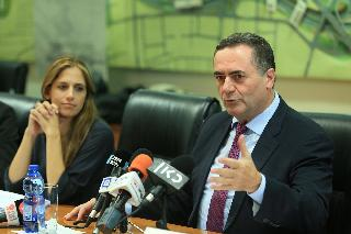 Finance Ministry Director-General Keren Terner-Eyal and Finance Minister Israel Katz