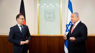 German Foreign Minister Heiko Maas meets with Prime Minister Benjamin Netanyahu during a recent visit to Jerusalem to discuss annexation