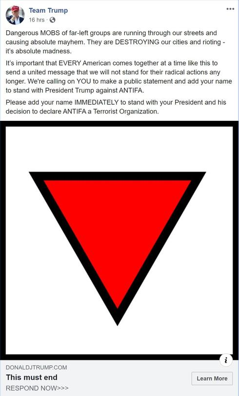Trump post censored by Facebook