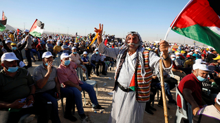 Palestinians protest Israel's annexation plans