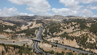 Roads surrounding the Ma'ale Adumim West Bank settlement