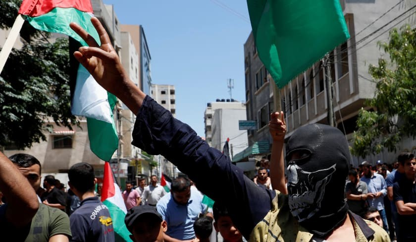 Palestinians in Gaza protest Israeli annexation plans on day of rage
