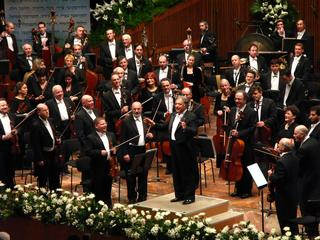 The Israel Philharmonic Orchestra performs at the gala in its name