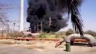 An explosion at an Iranian power station in Ahvaz