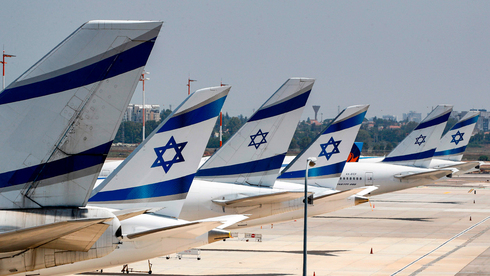 El Al planes parked at Ben-Gurion Airport