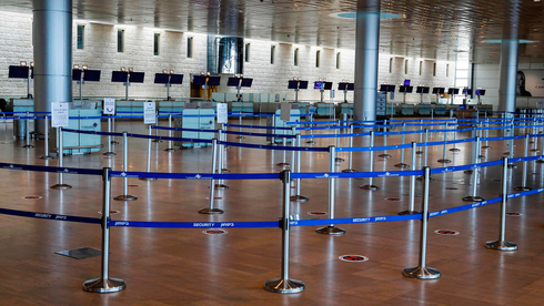 Ben-Gurion Airport stands empty during Israel's first lockdown in March