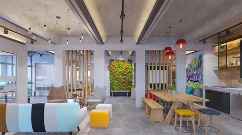 The tech hub in Nir Am houses startups working in a range of sectors