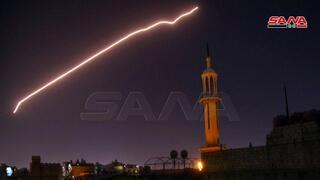 Syrian air defenses activated during an attack on pro Iranian targets in Damascus, attributed to Israel in July