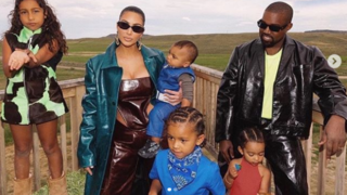 Kim and Kanye with the family