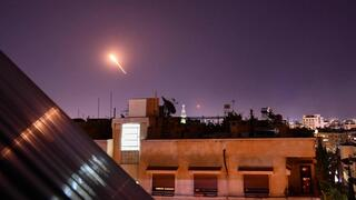 Archive picture of Syrian air defenses activated against Israeli strike of the Damascus area last year