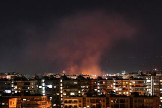 An alleged Israeli airstrike in Syria